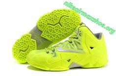 Nike Lebron 11 Volt Graphite Light Grey