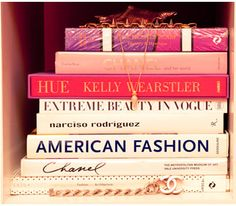 I love fashion books on my new bookshelves.