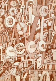 fred kennett - Cogs in the machine. Industrial imagery in an abstract form.