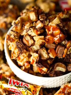 Twix Chex Mix by Deliciously Yum! - http://deliciouslyyum.com/