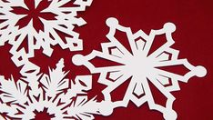 16 Large Paper Snowflakes Snowflake Cut Outs Two Kinds of Paper, DIY Christmas Decorations, Winter W