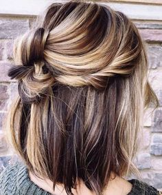 Exclusive Half Updo Short Thick Hairstyles for Women to Look Awesome This Year