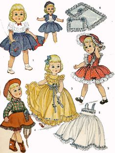 Vintage Doll Clothes PATTERN 3729 for 21 inch by BlondiesSpot, $10.99