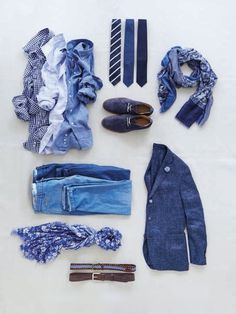 Outfit grid - It's a blue day