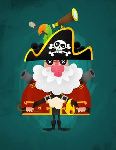 #Scallywag by Matt Kaufenberg - Cap'n Scallywag acts like he's in charge but everyone on the S.S. Sea Lubbers knows that his parrot, Davy, calls the shots. [Via NeonMob]