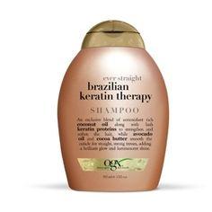 Brazilian Keratin Therapy Shampoo OGX Heb je last van dof, droog of pluizig haar? Dankzij de exclusieve ingrediënten van de Brazilian Keratine Therapy Shampoo als organische kokosolie, avocado-olie, cacaoboter en natuurlijk keratine krijg je gladde en soepel vallende zijdezachte lokken. Je haar zal merkbaar zachter aanvoelen, minder pluizen en is makkelijker in model te brengen.