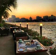 Sunset. Nile. Cairo egypt