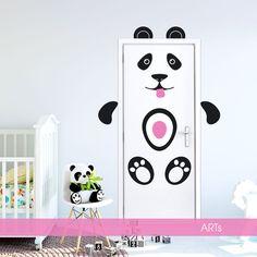 (3601f) #Nálepka na dvere a stenu - #Panda | #ARTSABLONY.SK
