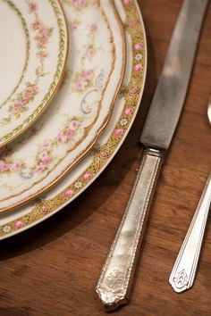 china - white with gold and pink - vintage