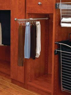 Rev-A-Shelf CTR-14 21-7/8 Inch Long Pull Out Tie and Scarf Organizer from the CT Satin Nickel Closet Organizers Tie Racks Organizer