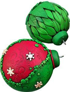 great polymer clay Christmas decorations