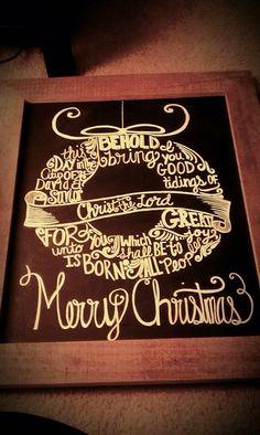 Chalkboard art, Christmas chalkboard, www.etsy.com/outofdustdesigns