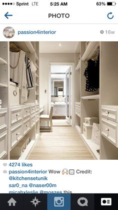 Walk through, not walk in closet