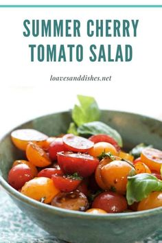 Ready in less than 10 minutes! This bright, beautiful, flavorful summer cherry tomato salad tastes exactly like summertime! #salad #cherrytomato #tomatoes #summer Summer Recipes, Fall Recipes, Dinner Recipes, Budget Recipes, Cherry Tomato Salad, Cherry Tomatoes, Best Comfort Food, Comfort Foods, Cheap Dinners
