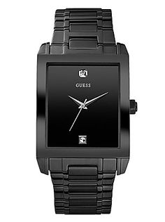 I've found some cool men's watches at Guess today! And my favorite is the Black IP/Stainless Steel Bracelet Watch.A handsome watch with genuine diamond accents is precisely what your wardrobe is missing. This sleek accessory adds polish for dashing appeal. No wonder Guess is one of the leading fashion brand nowadays. Their products are superb! Check out their collection and shop for men's watches today!     Visit: http://shop.guess.com/Catalog/Browse/Men%27s%20Accessories/Watches/