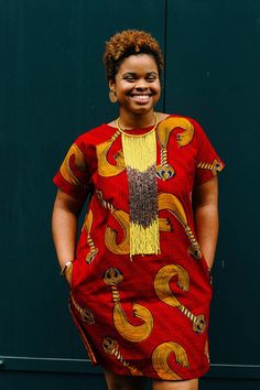 Maj impression africaine robe