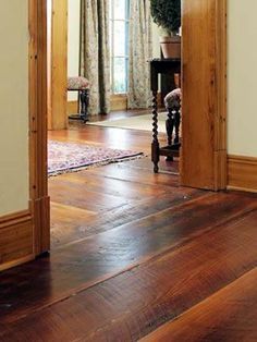 Wide Plank Wood Floors Tobacco Stain Wide Plank