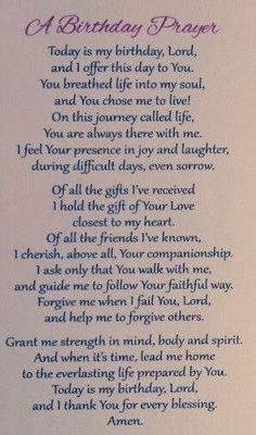 A Birthday Prayer, Happy Birthday Love Poems, Birthday Prayer For Me, Spiritual Birthday Wishes, Birthday Message To Myself, Birthday Quotes For Daughter, Happy Birthday Wishes Quotes, Birthday Wishes For Myself, Birthday Blessings, Birthday Thank You Message