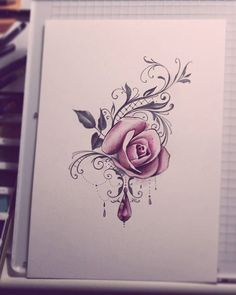 Tattoo Rose Thigh Tatoo Ideas For 2019 Thigh Tattoos, Body Art Tattoos, Tattoo Drawings, Sleeve Tattoos, Wrist Tattoo, Pretty Tattoos, Beautiful Tattoos, Cool Tattoos, Tattoo Designs For Women