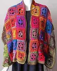 Ravelry: Mini Mochi Flower Garden Shawl pattern by Gail Tanquary