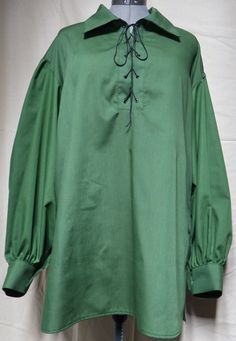 Men's lace-up green medieval costume shirt with collar. Costume Shirts, Costumes, Medieval Costume, Collar Shirts, The Ordinary, Lace Up, Cosplay, Shirt Dress, Green