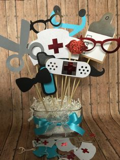 NURSE table center piece for parties  nurse by Thepartypitstop