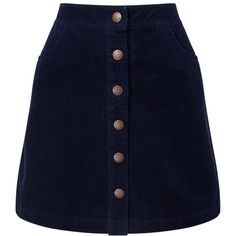 Miss Selfridge Navy Cord A-Line Mini Skirt ($38) ❤ liked on Polyvore featuring skirts, mini skirts, bottoms, navy, blue skirt, cotton a line skirt, mini skirt, cotton short skirts and navy mini skirt