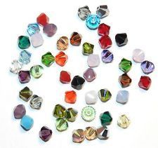 120-austria 4mm mixed color crystal loose beads
