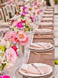 beautiful table setting on a lovely summer day
