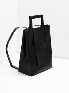 Minimal Backback - structured leather handbag // Orphan Bird