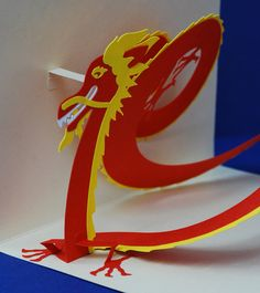 Chinese Dragon Pop-Up Card by PeadenScottDesigns on Etsy