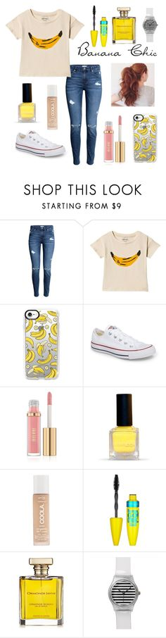 """BANANA CHIC"" by fashion-designer2010 ❤ liked on Polyvore featuring Bobo Choses, Casetify, Converse, COOLA Suncare, Maybelline and ORMONDE JAYNE"