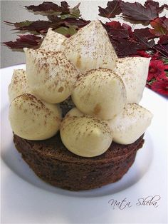 My lovely cake - Двойной брауни с трюфелем под муссом из карамелизированного белого шоколада