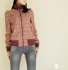 PDF sewing pattern. Women Zipper Blouson Cookie by WafflePatterns