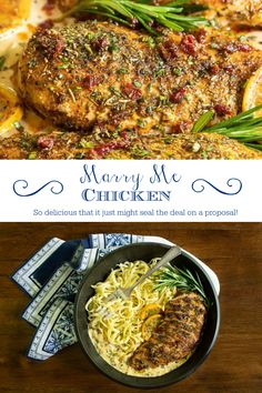 This super tender Marry Me Chicken with rosemary and sun-dried tomatoes is so delicious that it will definitely garner brownie points for you! No one has to know how easy it is! #marrymechicken #bestchickenrecipes #dinnerideas Best Chicken Recipes, Beef Recipes, Healthy Recipes, Weeknight Meals, Easy Meals, Lunch Recipes, Dinner Recipes, Brownie Points, Rosemary Chicken
