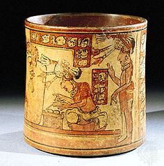 """The Fenton Vase Maya, AD The British Museum """"Polychrome ceramic vessels were a symbol of status and power for the Maya. They were used by the élite and are found as offerings in rich burials. Maya Civilization, Vases, Mesoamerican, Ancient Jewelry, Ancient Civilizations, Glyphs, British Museum, Ancient Art, Art Google"""