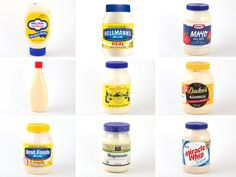 Mayonnaise  We tracked down nine different brands of mayonnaise and served them up in a variety of ways to our tasting panel to determine which brand would rule the land.