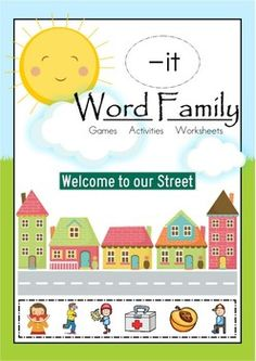 IT Word Family Games-Activities-Worksheets {FREE} This unit contains 19 units: Displays, Games, Activities and Worksheet packets focusing on the IT Word Family. 77 pages Kindergarten Freebies, Kindergarten Reading, Kindergarten Classroom, Teaching Reading, Teaching Ideas, Teaching Phonics, Guided Reading, Preschool Ideas, Teaching Tools