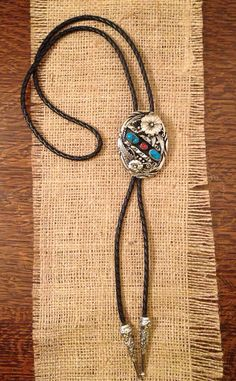 Southwestern style silver bolo tie on Etsy, $19.00 SOLD