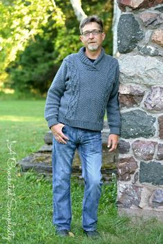 Crochet Pattern: Midwestern Warmth Men's Cabled Sweater **Permission to sell finished items Crochet Men, Crochet Jumper, Sweater Knitting Patterns, Crochet Sweaters, Crochet Winter, Crochet Jacket, Cable Sweater, Men Sweater, Crochet Designs