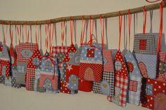 Weihnachtsstädtchen-Adventskalender von mimmieklein auf DaWanda.com