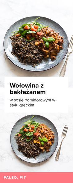Przepis na Wołowinę z bakłażanem w sosie pomidorowym. Nisko-tłuszczowy posiłek idealny po treningu. Mielona wołowina z bakłażanem w sosie pomidorowym.