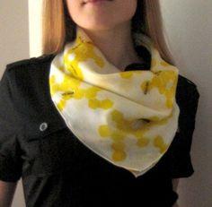 Sweet Honeybees hand painted petite silk square scarf