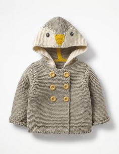 Buy Mini Boden Baby Penguin Knitted Jacket, Grey Marl from our Baby & Toddler Jackets & Coats range at John Lewis & Partners. Mini Boden, Baby Boden, Baby Booties Knitting Pattern, Baby Boy Knitting Patterns, Knit Jacket, Gray Jacket, Kids Outfits Girls, Boy Outfits, Crochet Baby Dresses