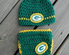 Handmade, Crochet Green Bay Packers