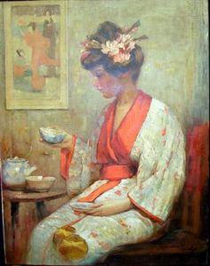 Edward Cucuel (American, 1875-1954) : The Kimono. n. d.