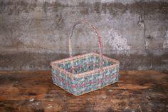 $68 for sale 2020 Vintage Blue and Pink Easter Basket Rectangular Basket with   Etsy