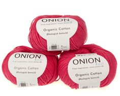 Pink økologisk bomuldsgarn fra Onion - 35 kr. per 50 gram
