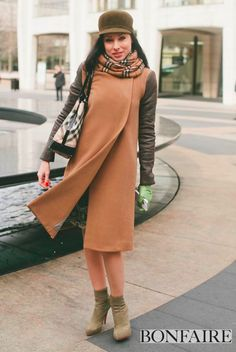 Gorgeous and classy!  #nyfw #bonfaire #burberry #streetstyle