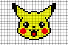 Pikachu has electricity-storing pouches on its cheeks. These appear to become electrically charged during the night while Pikachu sleeps. Pikachu Pikachu, Pixel Art Pikachu, Pixel Pokemon, Pikachu Crochet, Pokemon Comics, Easy Pixel Art, Cool Pixel Art, Anime Pixel Art, Pixel Pattern